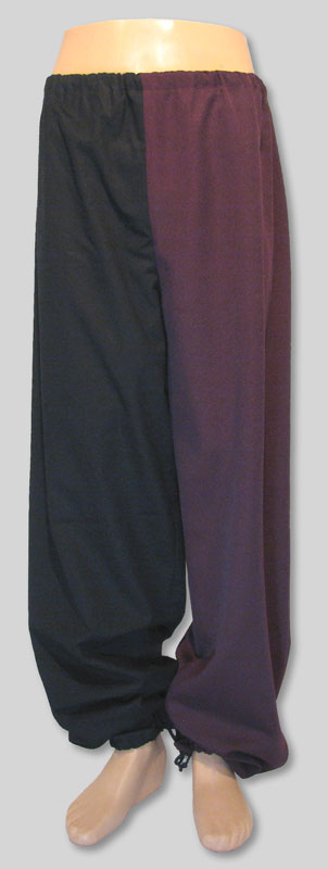 Two-color pants