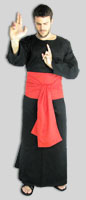Wide Sash Pictured with robe and rope sandals all Made in USA